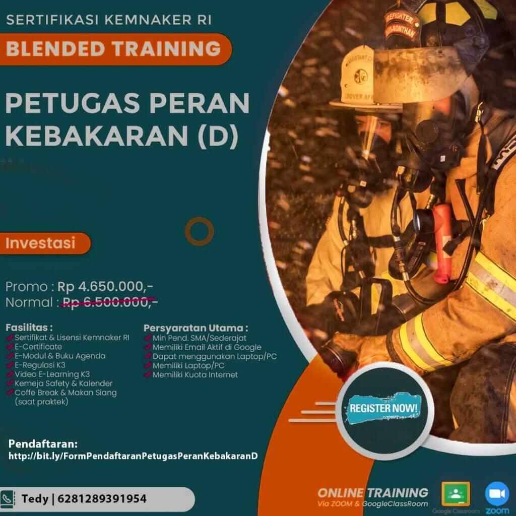 Blended Training Pelatihan kebakaran Petugas Peran Kebakaran (D)