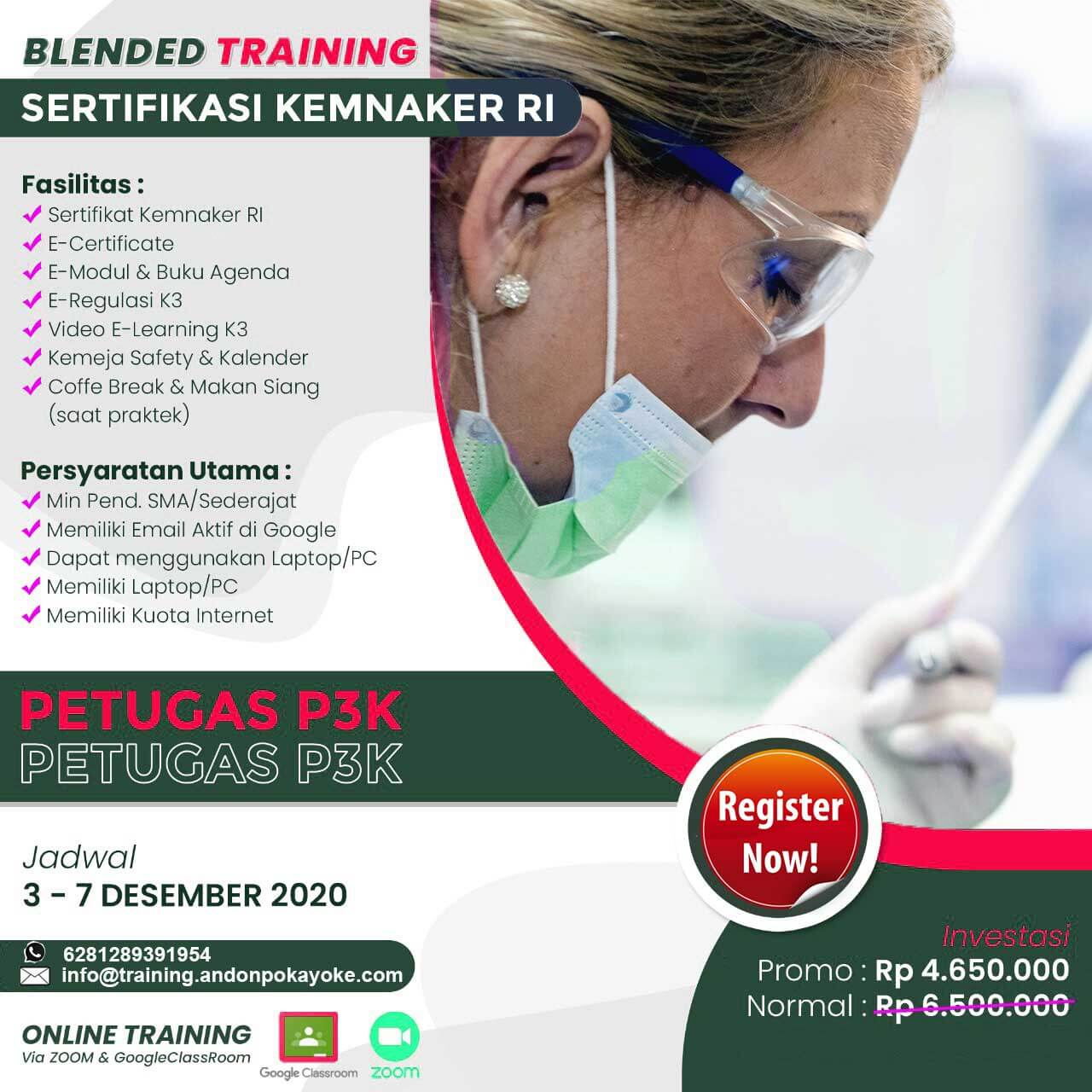 Blended Training Petugas P3K Kemnaker