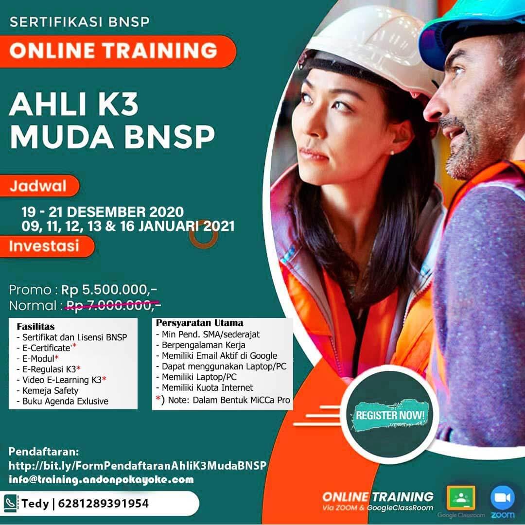 Online Training AK3 Muda BNSP